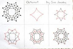 Octonet by Sue Jacobs.... this links to a tangle gallery with all sorts of other tangle instructions :)