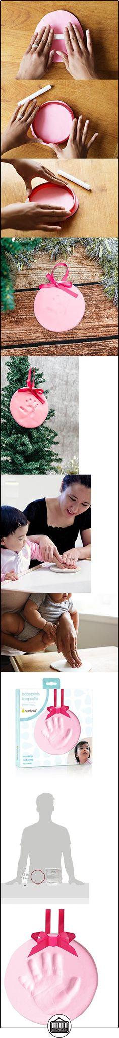 Pearhead Easy-to-Create Babyprints Baby Handprint or Footprint Keepsake Ornament Kit with Ribbon, Pink by Pearhead  ✿ Regalos para recién nacidos - Bebes ✿ ▬► Ver oferta: http://comprar.io/goto/B00L63QFMM