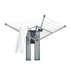 WallFix with Box - Matt Steel - WallFix - Laundry drying & ironing | Brabantia