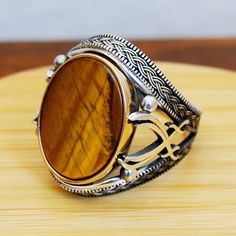 Excited to share the latest addition to my #etsy shop: Mens Handmade Ring, Turkish Handmade Silver Men Ring, Ottoman Mens Ring, Tiger Eye Ring, Men Ring, Gift for Him, 925k Sterling Silver Ring #jewellery #ring #silver #yes #boys #brown #thanksgiving #birthday #jewelry https://etsy.me/2m3XbPX