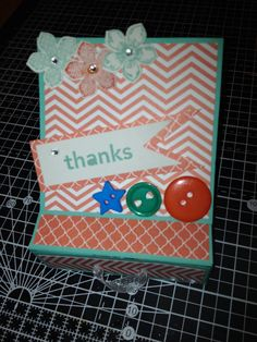Easel card thank you From Papercraft Button