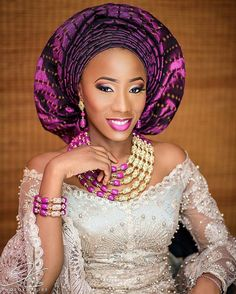 A portrait of the prettiest bride! Fiyin @ms_debayo  Makeup and gele by @tifaramakeovers  event planned by @vertexeventsng  #fiyinks2016 Photog @photokulture