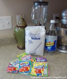Koolaid slurpees, better than 7/11 - want to try this in the summer