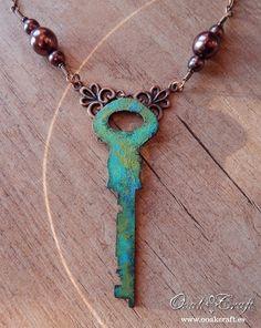 "Ooak☥Craft - 'The shining city below the sea' necklace and earrings set (detail) > Conjunto de collar y pendientes""The shining city below the sea"" (detalle)"