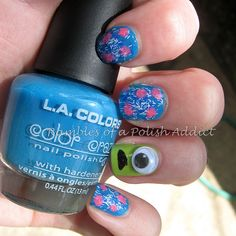 Disney nail art challenge day 27: Monsters, Inc.