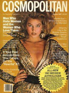 Cosmopolitan magazine, JANUARY 1987 Model: Cindy Crawford Photographer: Francesco Scavullo