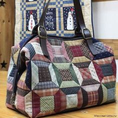 29 Ideas for patchwork patrones costurero Japanese Patchwork, Japanese Bag, Patchwork Patterns, Patchwork Bags, My Bags, Purses And Bags, Plaid Quilt, Quilted Tote Bags, Place Mats Quilted