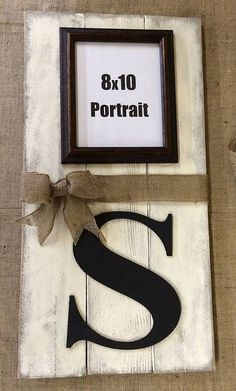 1dbe4284f5c Monogram Photo Frame Sign ○⊰⊹ This rustic sign is perfect for any couple  wedding gift