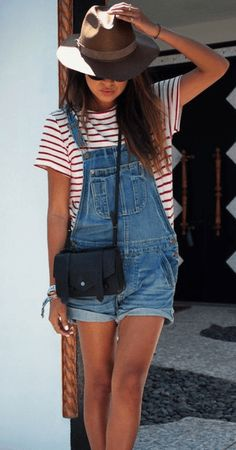 Work them short'eralls 22 Of The Hottest Ways To Wear Stripes • Page 8 of 11 • BoredBug