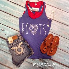 Just in! Blue roots tank! Sizes small-xlarge $28.99 we have limited supply so stop by today and grab yours! #bedazzledokc