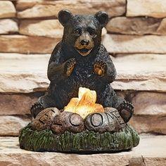 Big Sky Carvers Bearfoots Black Bear Climbing Bear Ceiling Fan Pull Brass Chain