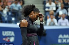Serena Williams was sent crashing out of the US Open in the semi-finals