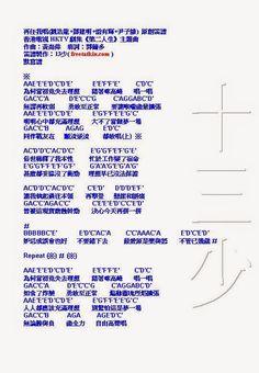嚟曬譜: 再任我唱(劉浩龍+鄧建明+雷有輝+尹子維)  原創笛譜