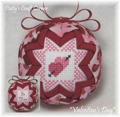 """Valentine's Day"" - Visit www.etsy.com/shop/pattyscraftcorner to view a variety of handmade ornaments."