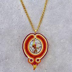 Handmade ZuzDesign Soutache sunset http://femmefashion.sk/zuz-design/2375-nausnice-pastels.html