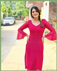 Isha Rikhi Hot HD Photos & Wallpapers for mobile Simple Kurta Designs, Kurti Neck Designs, Kurta Designs Women, Blouse Designs, Churidar Designs, Fancy Dress Design, Indian Designer Suits, Designer Party Wear Dresses, Indian Attire