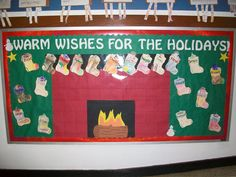 Such a cute idea for a bulletin board during the holidays. The process allows the students to be interactive as well..