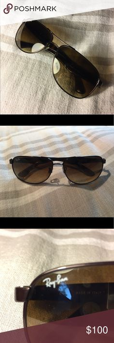 🌞 LIKE NEW UNISEX SQUARE AVIATOR RAY BANS 🌞 i purchased these ray bans because i thought i lost my other ones but ended up finding my other ones after wearing these only twice! i can't return them because i got them on vacation so im trying to sell them ///: the image from the ray bans site is to show a similar product ($160) - i will accept reasonable offers Ray-Ban Accessories Sunglasses