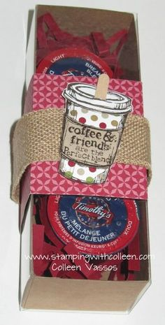 Perfect Blend Meets Tag a Bag Gift Box-holds 3 Keurig K Cups-great office gift!