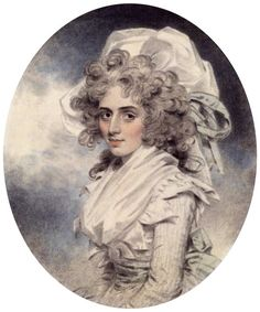 Sarah Siddons actress, (John Downman 1787).  Visited Saltram in this year Anne Robinson did not approve!