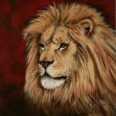 "8 X 8 Acrylic  Gallery Wrapped Canvas ""Judah"" By Texas Artist Jennifer Remy Renfrow"