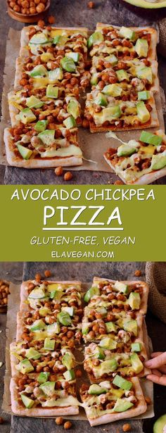 Avocado chickpea pizza with vegan cheese ! this pizza is glutenfree plant based contains healthy protein fat and carbs easy recipe which is perfect for lunch or dinner especially on weekends meat lovers pizza bread Mexican Food Recipes, Beef Recipes, Whole Food Recipes, Vegetarian Recipes, Cooking Recipes, Healthy Recipes, Pizza Recipes, Vegetarian Pizza, Snacks Recipes