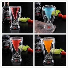 Material: high borosilicate glass Size: 7.7*6*13.8cm Weight: 177g Capacity: 100ml Heat: -20 degrees to 180 degrees Note: The glass is transparent, the color you saw is liquid inside.