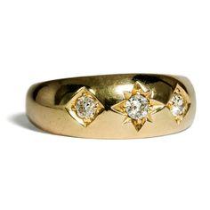 Be a star - Viktorianischer Gypsy-Ring mit Diamanten, England 1890er Jahre von Hofer Antikschmuck aus Berlin // #hoferantikschmuck #antik #schmuck #Ringe #antique #jewellery #jewelry // www.hofer-antikschmuck.de