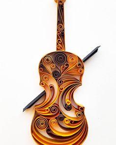 Violine Papierkunst Viola-Wand-Kunst Violine Home Decor