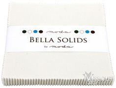 Bella Solids Porcelain Charm Pack By Moda Fabrics SKU# 9900PP 182 - Moda Fabrics - Moda Fabrics