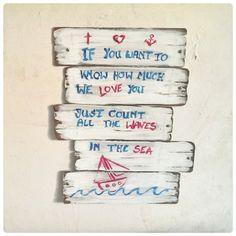 Plankenbild für alle Liebhaber von maritimem Stil und Shabby-Chic (mit Anleitung)