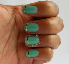 MUA Shade 5 and Gold Striping Tape Manicure