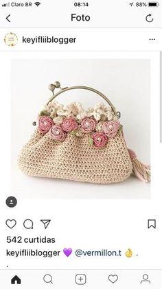Best 12 No photo description available. Crochet Wallet, Crochet Coin Purse, Crochet Tote, Crochet Handbags, Crochet Purses, Diy Crochet, Crochet Lace Edging, Crochet Flowers, Crochet Stitches