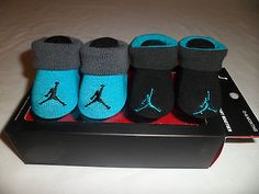 NIB Nike Air JORDAN BABY Infant Boys CRIB Shoes Booties Socks 0-6 M Newborn New