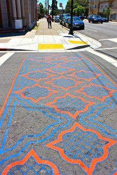 Colorful Crosswalk ~ oaklanddailyphoto.blogspot.com