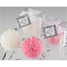 Rose Ball Candle - Dusty Pink available online from GiftLady.net delivered throughout South Africa