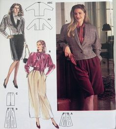 1980s Blouse Jacket Skirt and Pants sewing by retroactivefuture, $7.00