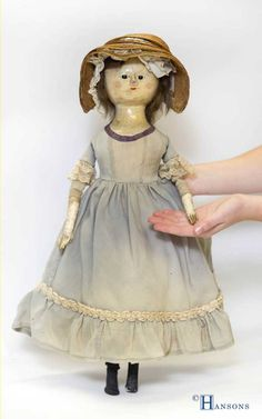 'the wooden doll dating to circa 1750 and made by an unknown English maker is an exciting find. It is of a type known as 'a Queen Anne doll. Such dolls were made throughout the late the late 17th and into the 18th century.'