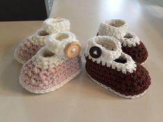 Baby slofjes / schoentjes Mary Janes, handgehaakt, ook in prematuur en newborn! In vele kleuren mogelijk door Haakmadam op Etsy