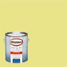 Glidden High Endurance, Interior Paint and Primer, Bright Hummingbird Yellow, #70YY 73/458, Green
