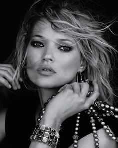 Kate Moss is photographed for jewelry designer DavidYurman. The model appeared in several ads before being replaced entirely by supermodelGiseleBundchen.Photo Credit: David Yurman via StyleList