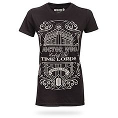 """Time Lords Vintage Ladies Tee  XL: 36"""" chest 27"""" length. 2XL: 38""""chest, 28""""length. 3XL: 40""""chest, 29""""length.   $21.99 #thinkgeek #drwho #tshirt"""