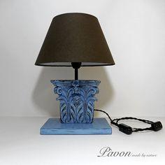 Lampada vintage con intarsio antico. N. 002