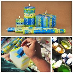 new hand-painted candle design from nobunto #handcrafted #candles #decorations #gifts #crafts #SouthAfrica #FairTrade #summer