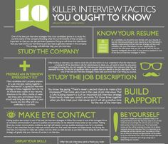 10 Killer Interview Tactics You Ought to Know Job interviews can be a mystery. But you can find success if you follow the right job interv...