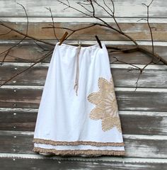 woman's skirt with vintage doily by mayalu, via Flickr