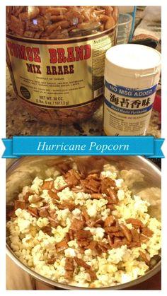 HAWAIIAN HURRICANE POPCORN | ingredients: movie theater butter popcorn. mix arare (your fave brand). nori furikake.
