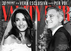 George Clooney and Amal Alamuddin's wedding has made another magazine cover - this time Vanity Fair magazine. The couple are glowing with happiness...