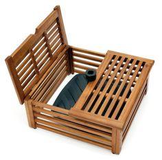 Ideen aus Holz Schirmständer-Abdeckung - aus Akazienholz