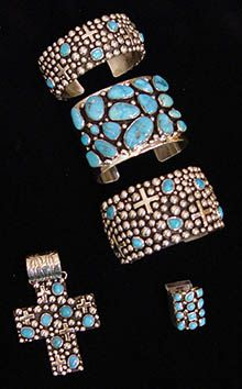 Bilagaanas-crosses- native American navajo cuff bracelets